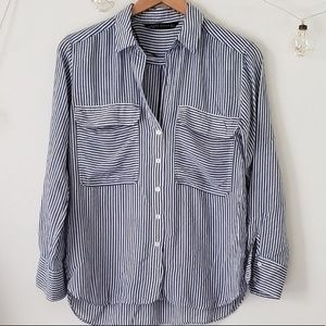 Zara Striped Button Up Blouse